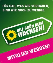 Parteimitglied Bündnis 90/Die Grünen werden